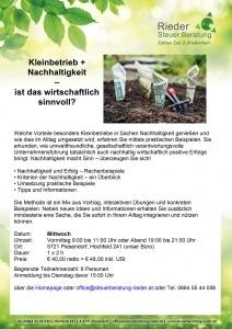 Seminar Nachhaltigkeit